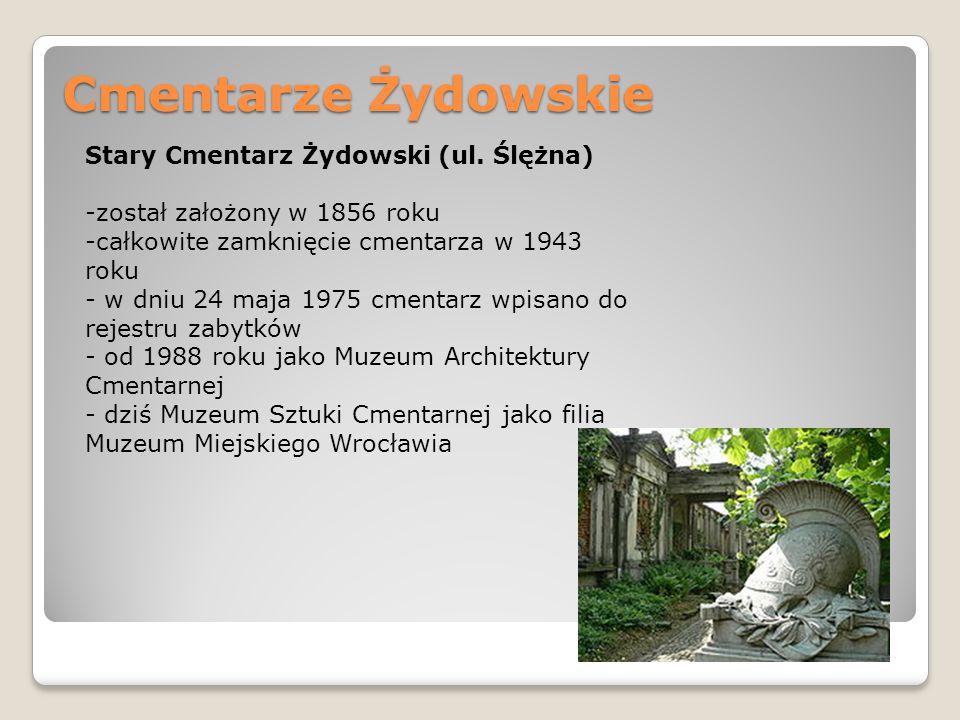 Cmentarze Żydowskie Stary Cmentarz Żydowski (ul. Ślężna)