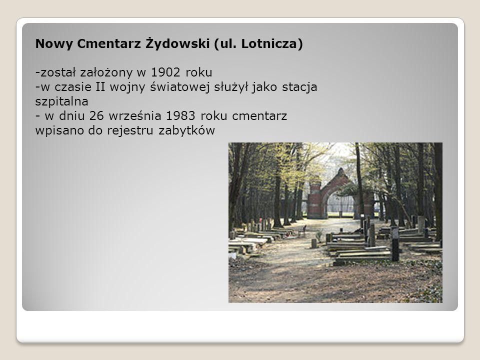 Nowy Cmentarz Żydowski (ul. Lotnicza)