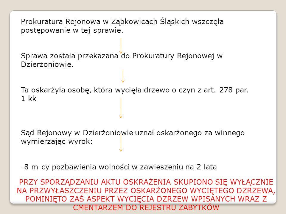 Prokuratura Rejonowa w Ząbkowicach Śląskich wszczęła postępowanie w tej sprawie.