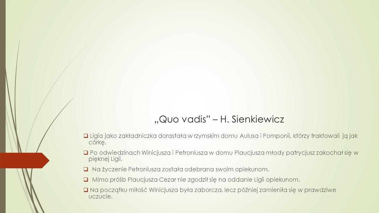 """Quo vadis – H. Sienkiewicz"