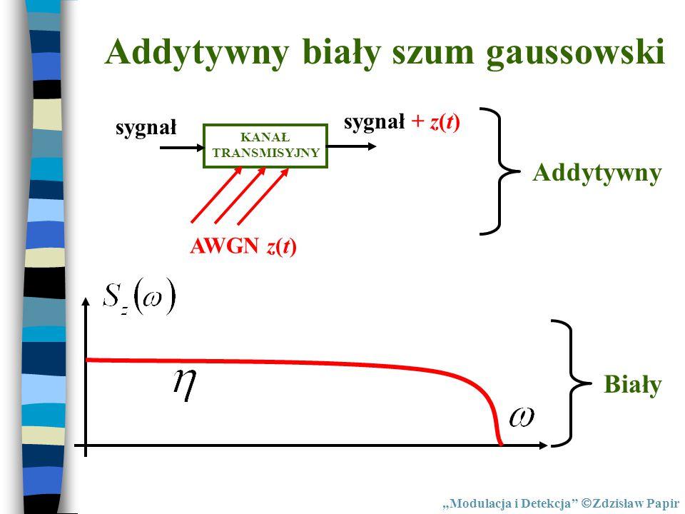 Addytywny biały szum gaussowski