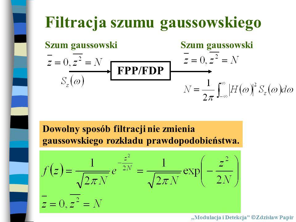 Filtracja szumu gaussowskiego