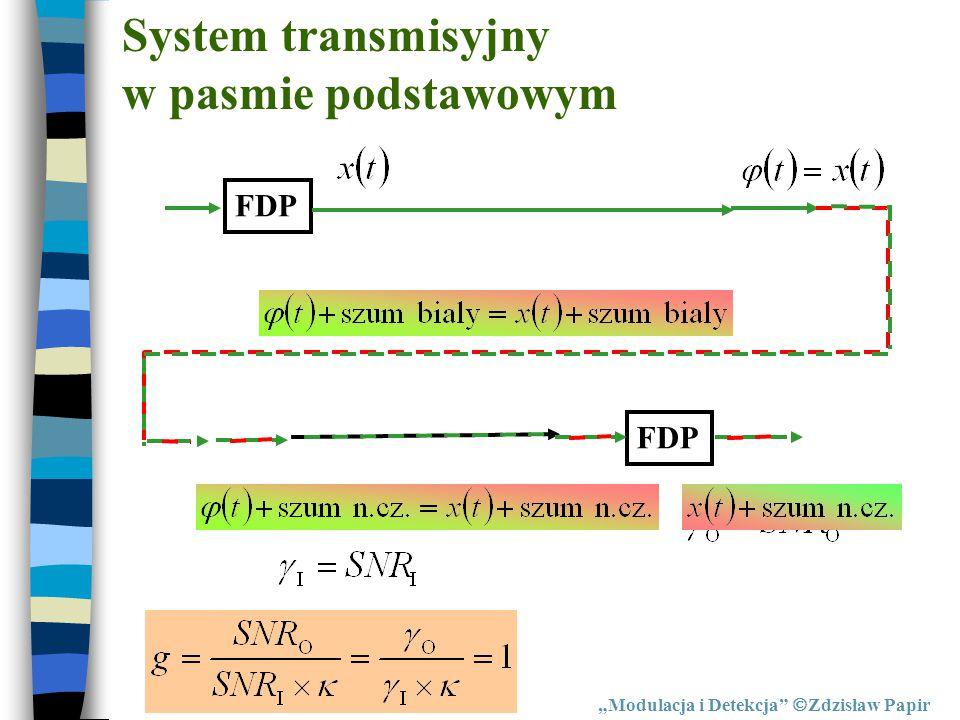 System transmisyjny w pasmie podstawowym