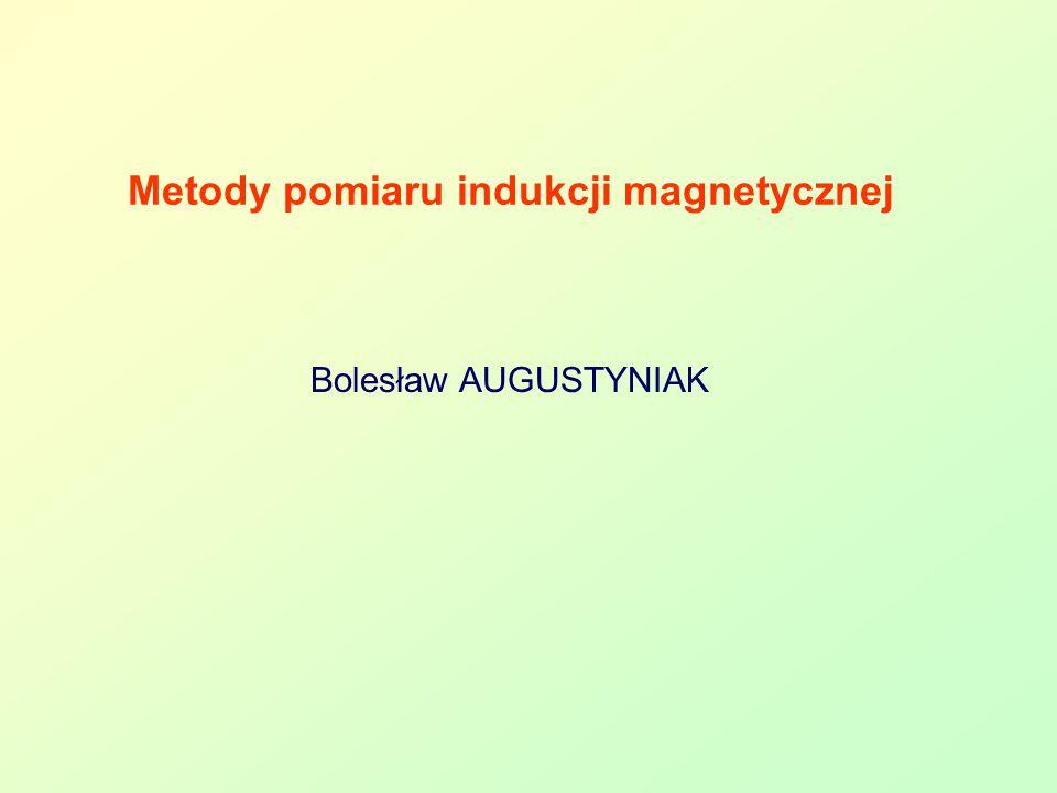 Metody pomiaru indukcji magnetycznej
