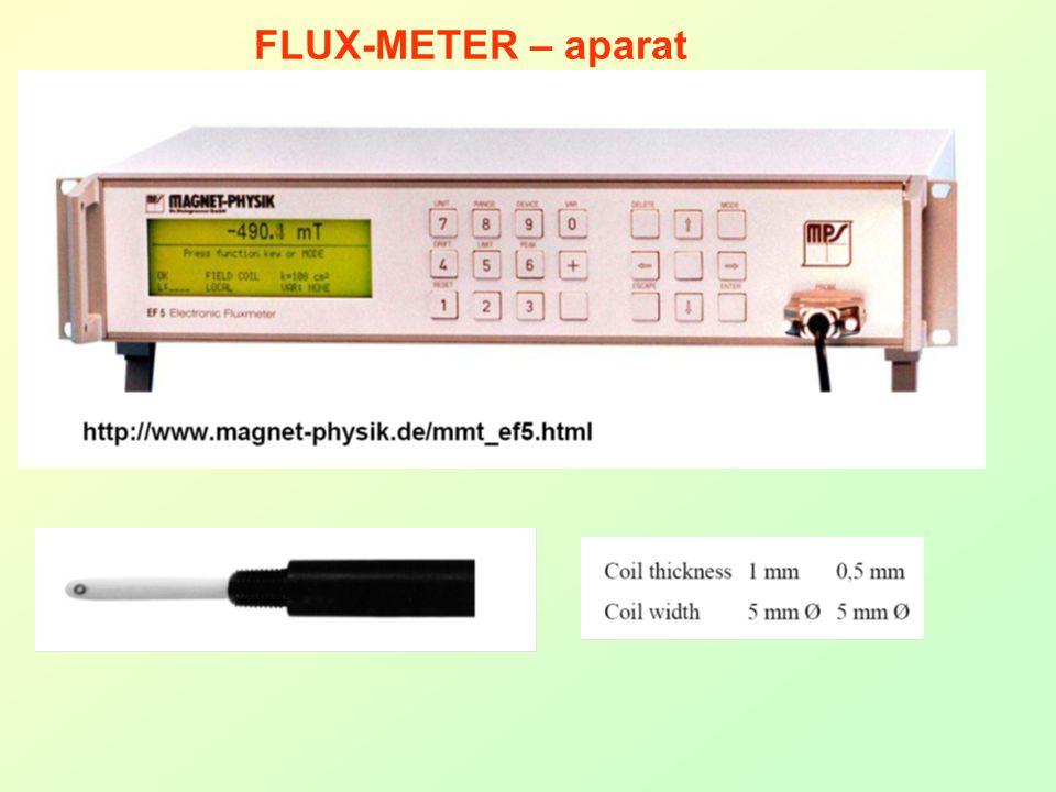 FLUX-METER – aparat