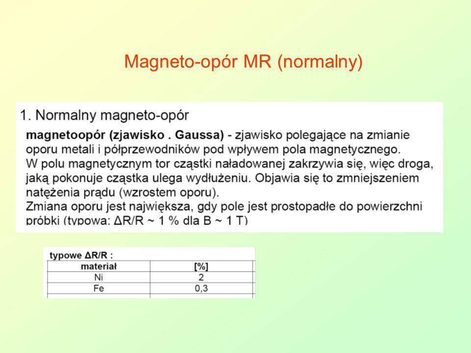 Magneto-opór MR (normalny)