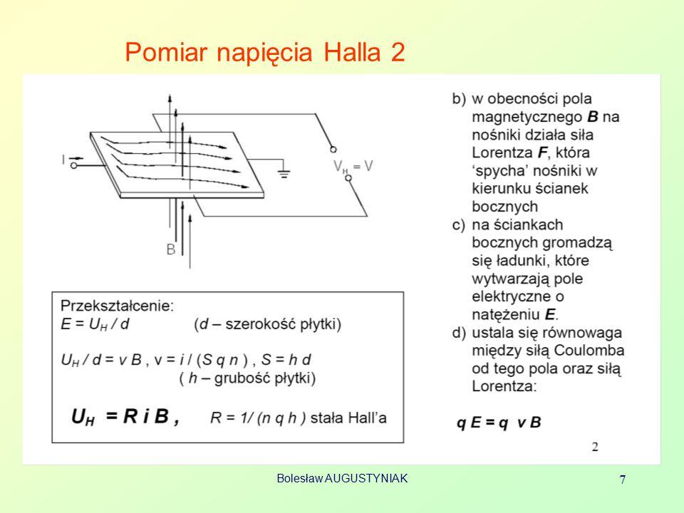 Pomiar napięcia Halla 2 Bolesław AUGUSTYNIAK 7