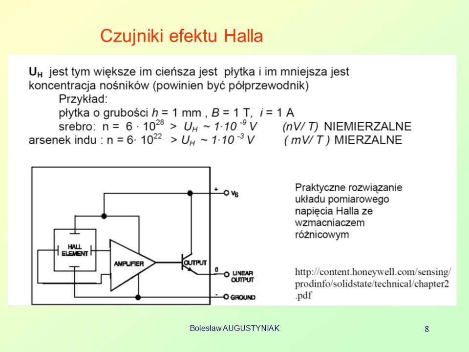 Czujniki efektu Halla Bolesław AUGUSTYNIAK 8
