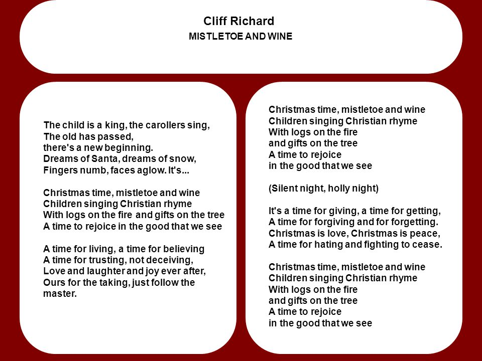 Cliff Richard MISTLETOE AND WINE