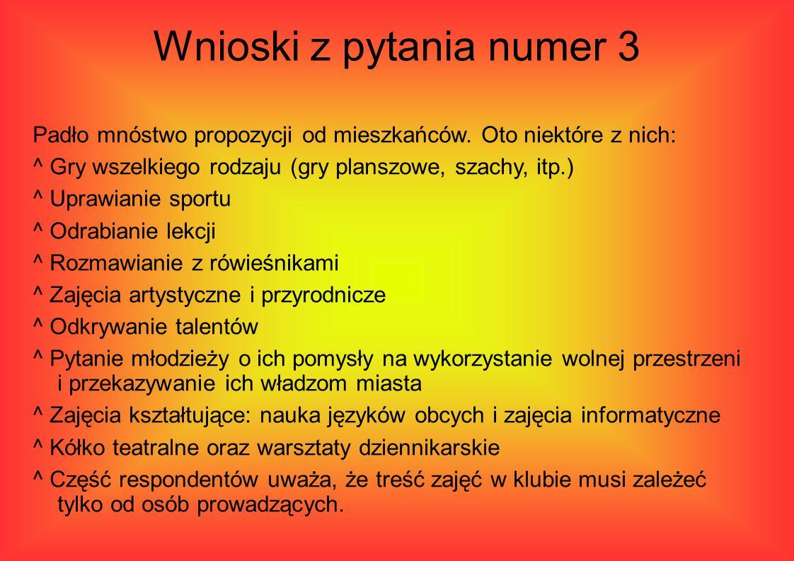 Wnioski z pytania numer 3