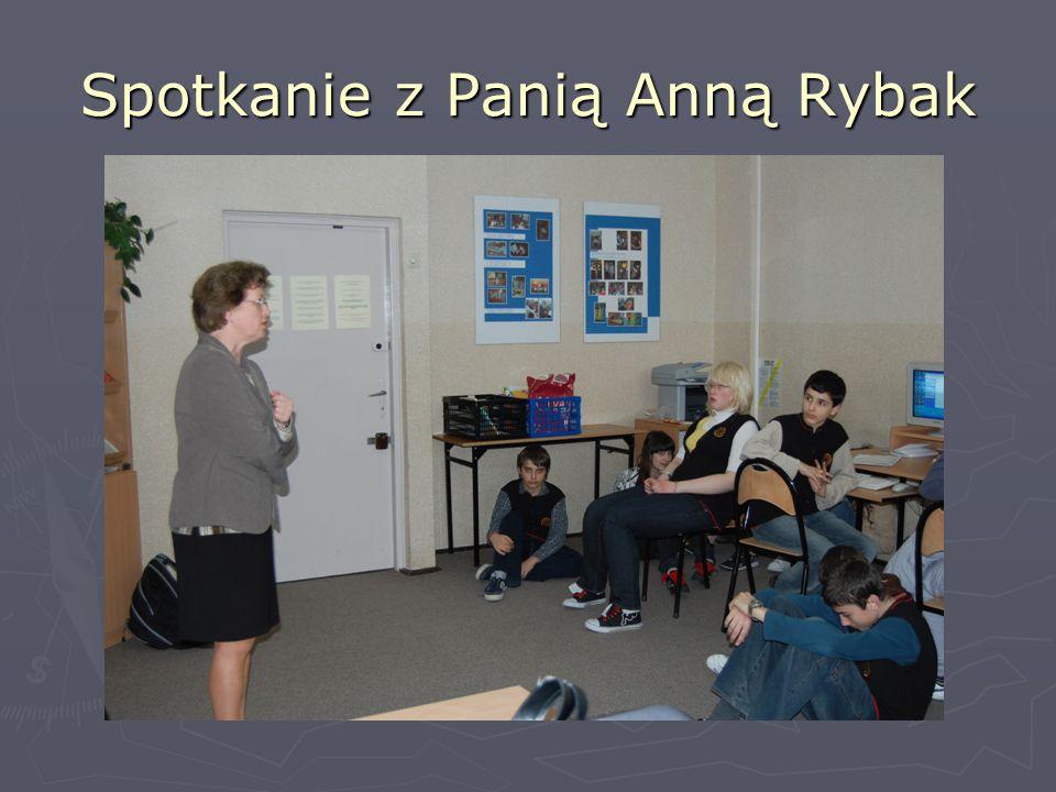 Spotkanie z Panią Anną Rybak