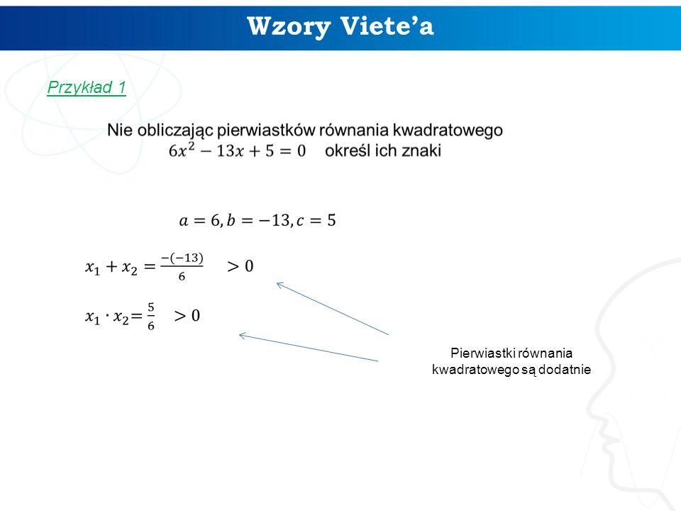 Pierwiastki równania kwadratowego są dodatnie