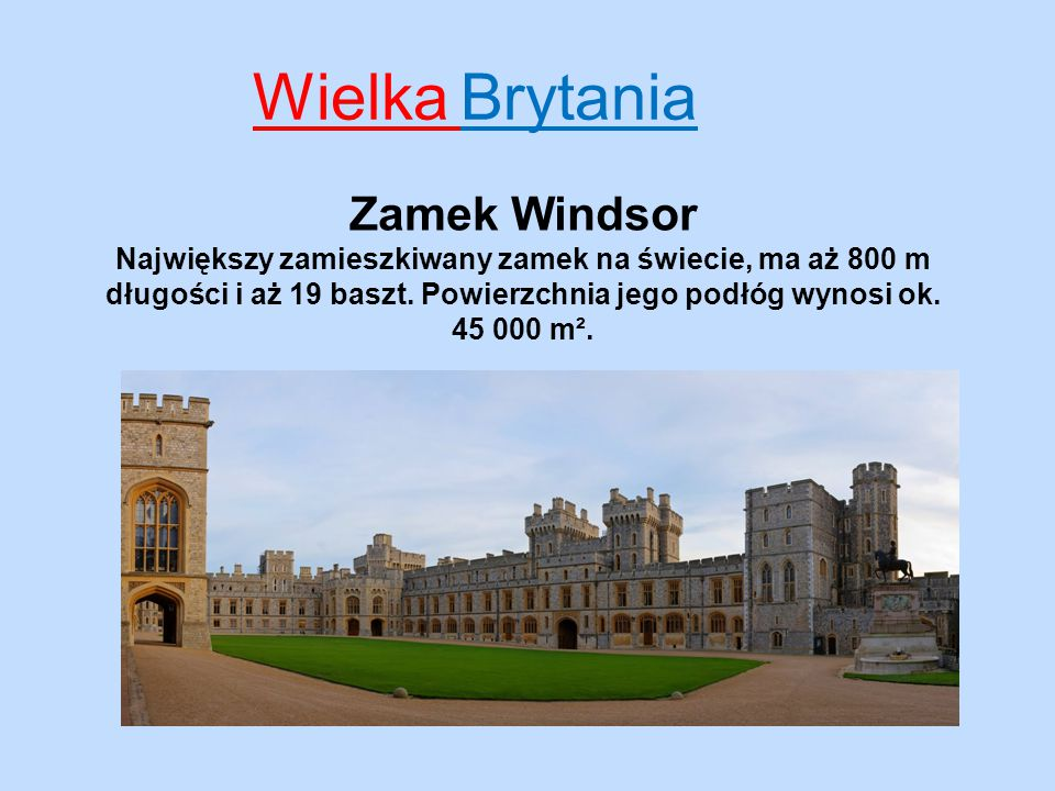 Wielka Brytania Zamek Windsor