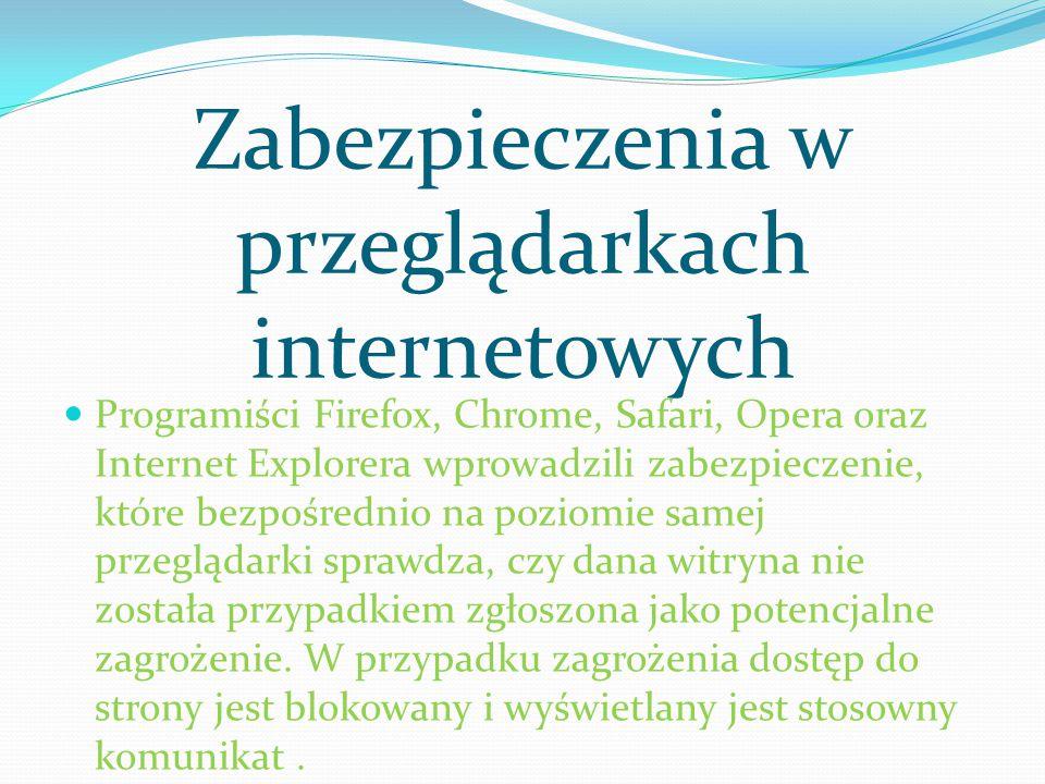 Zabezpieczenia w przeglądarkach internetowych