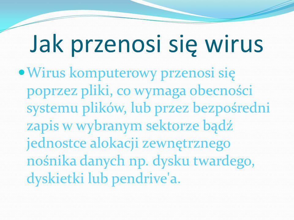 Jak przenosi się wirus