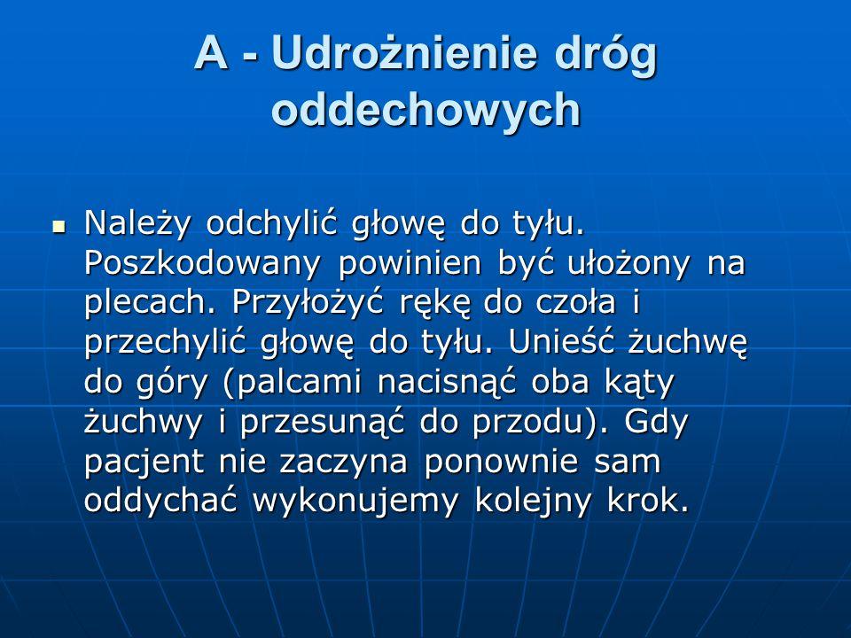 A - Udrożnienie dróg oddechowych