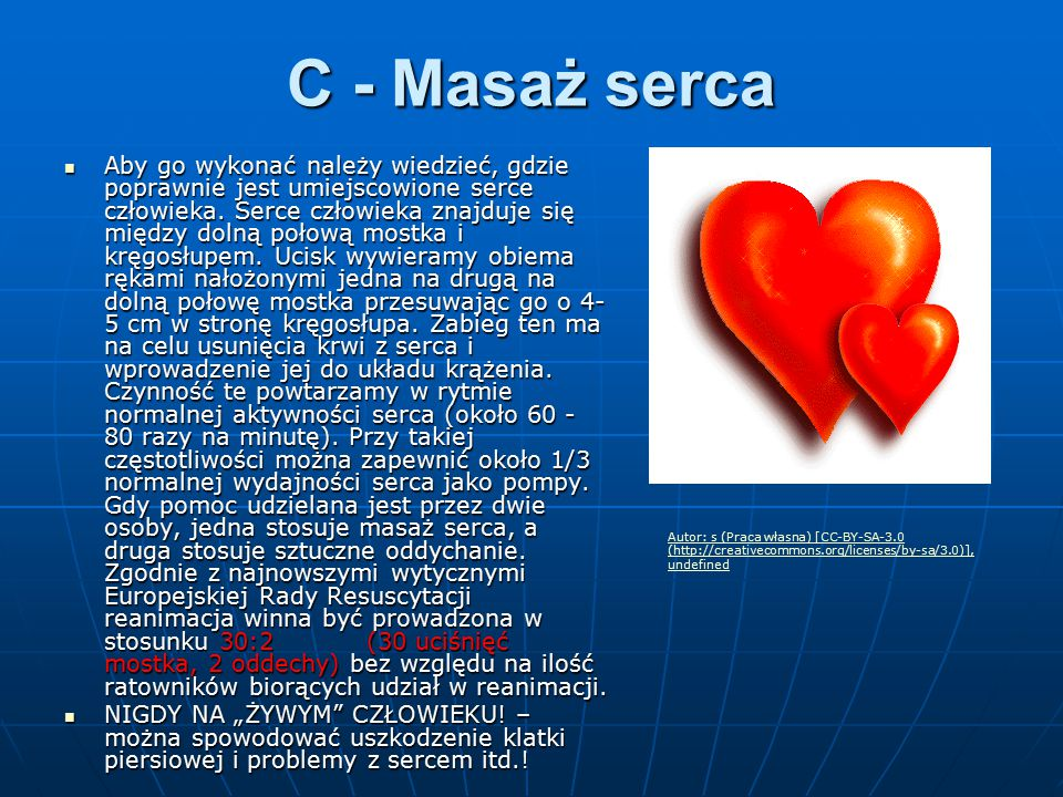 C - Masaż serca