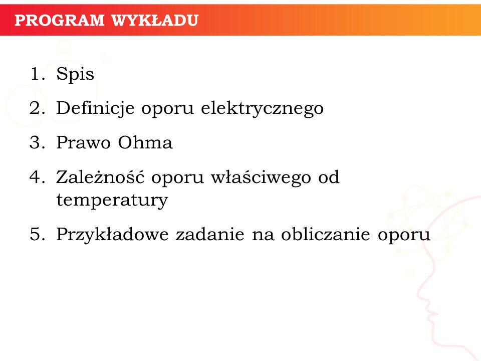 Definicje oporu elektrycznego Prawo Ohma
