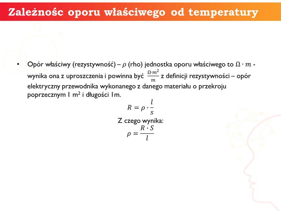 Zależnośc oporu właściwego od temperatury informatyka +