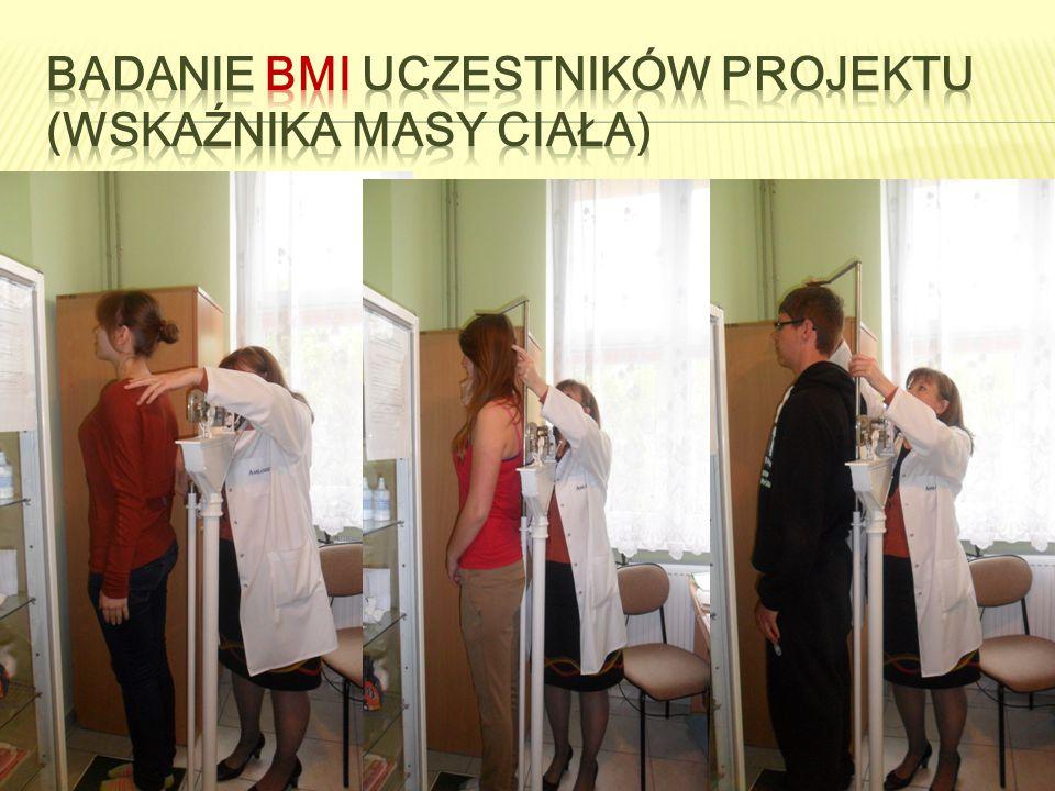 Badanie BMI uczestników projektu (wskaźnika masy ciała)