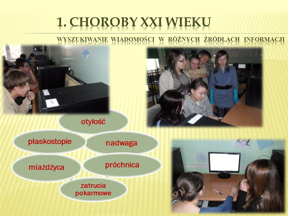 1. Choroby XXI wieku wyszukiwanie wiadomości w różnych źródłach informacji