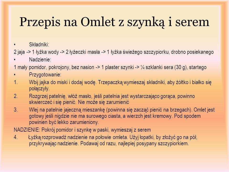 Przepis na Omlet z szynką i serem