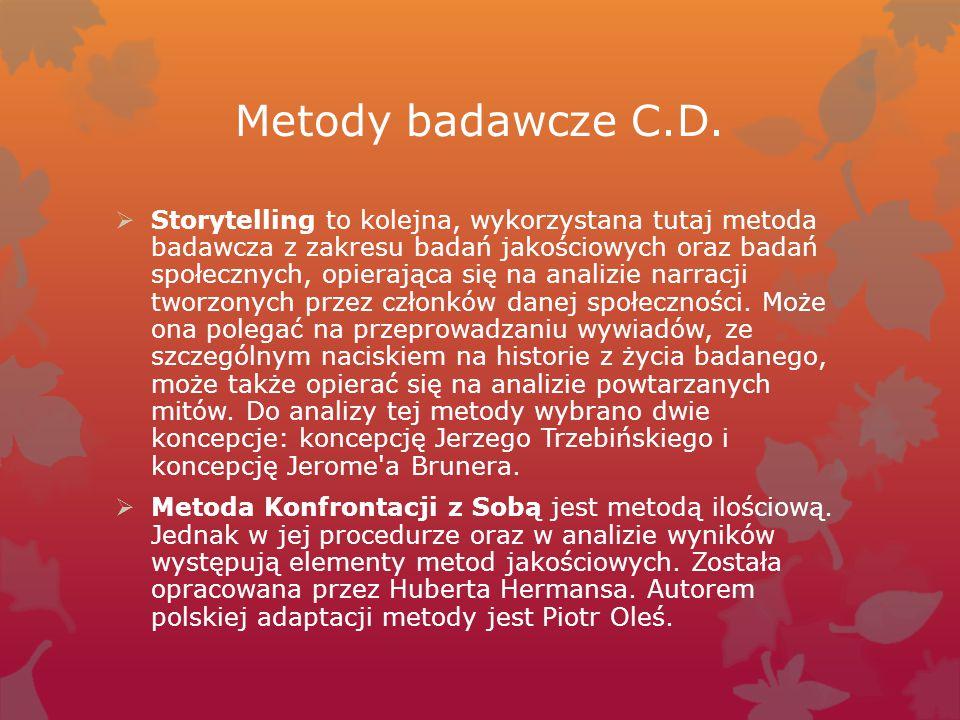 Metody badawcze C.D.