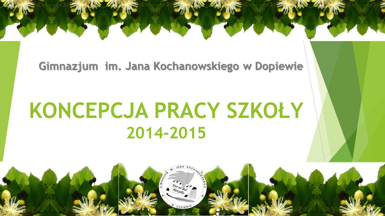 KONCEPCJA PRACY SZKOŁY 2014-2015