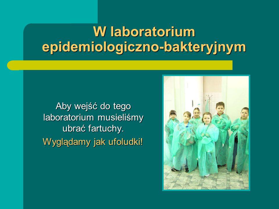 W laboratorium epidemiologiczno-bakteryjnym