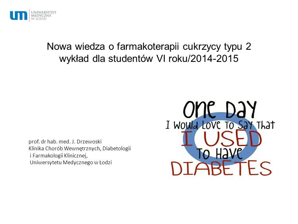 Nowa wiedza o farmakoterapii cukrzycy typu 2 wykład dla studentów VI roku/2014-2015