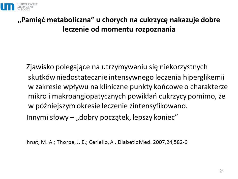 """""""Pamięć metaboliczna u chorych na cukrzycę nakazuje dobre leczenie od momentu rozpoznania"""