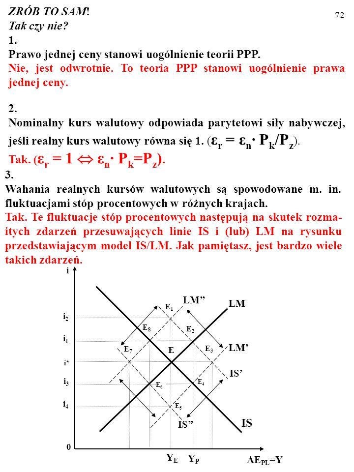 Prawo jednej ceny stanowi uogólnienie teorii PPP.