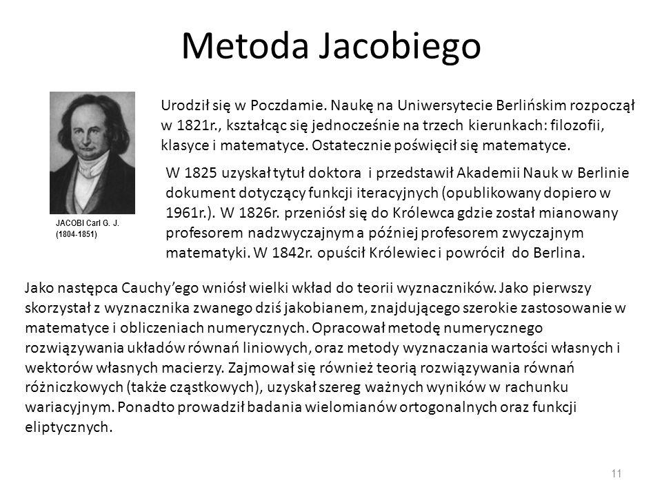 Metoda Jacobiego