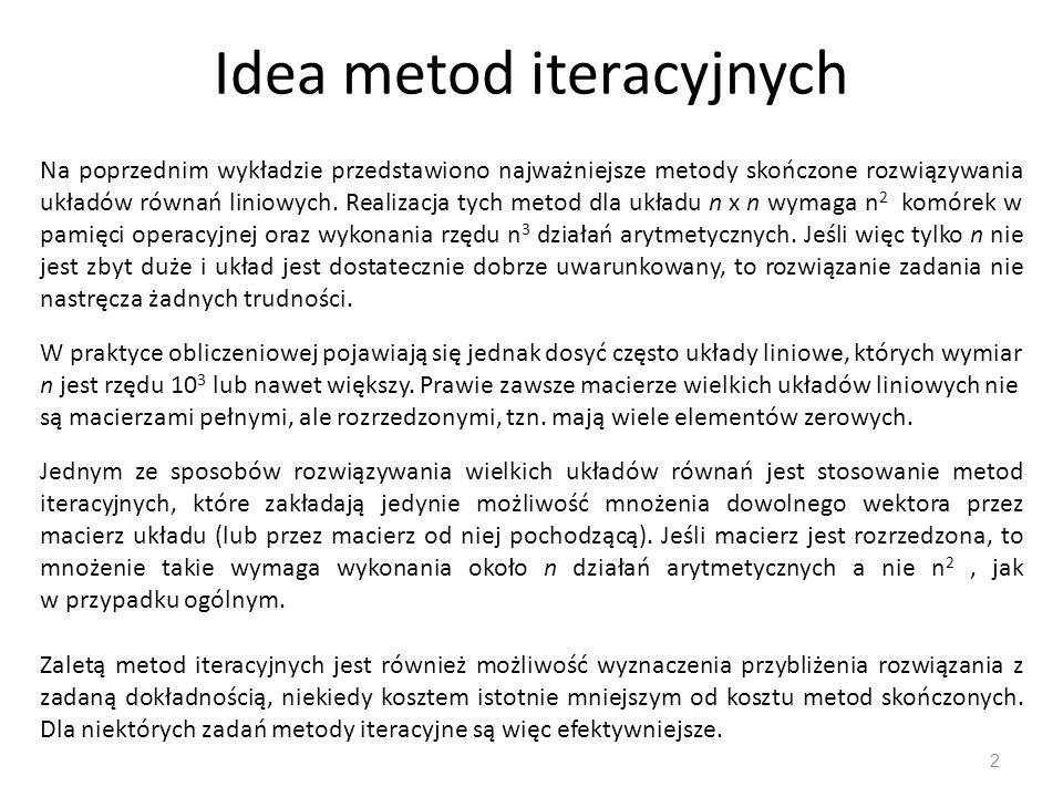 Idea metod iteracyjnych