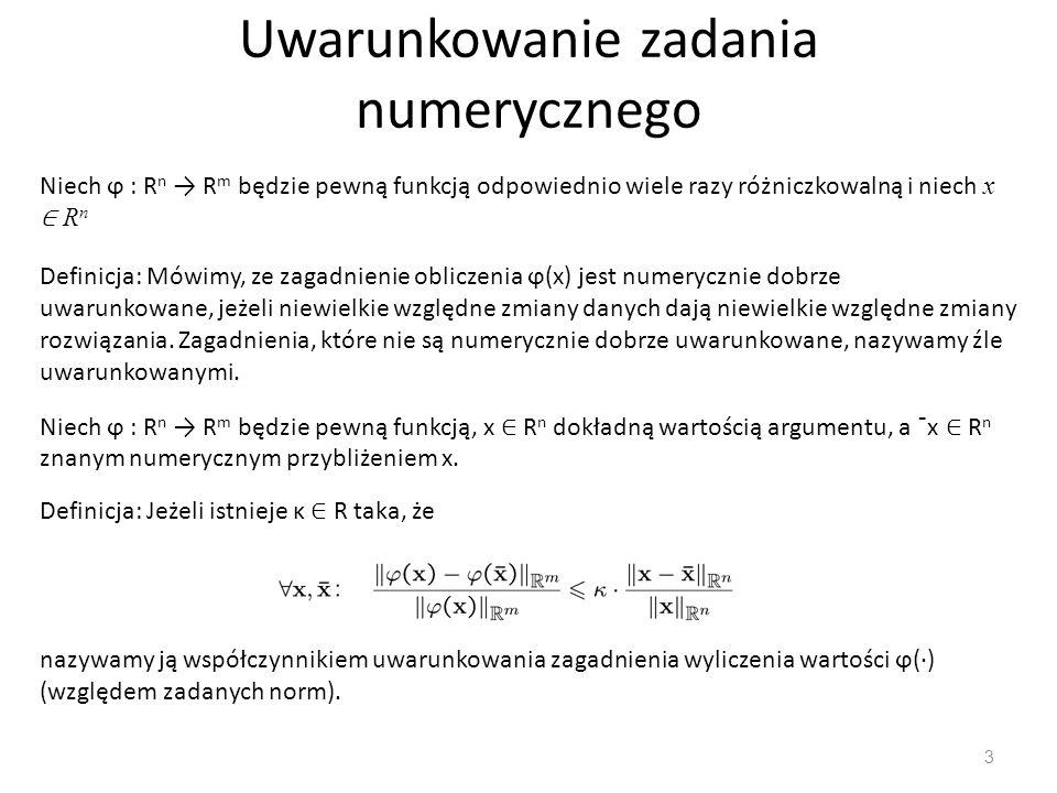 Uwarunkowanie zadania numerycznego