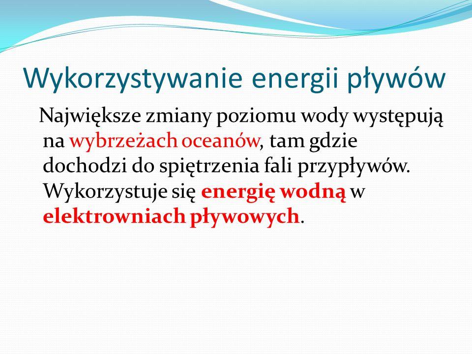 Wykorzystywanie energii pływów