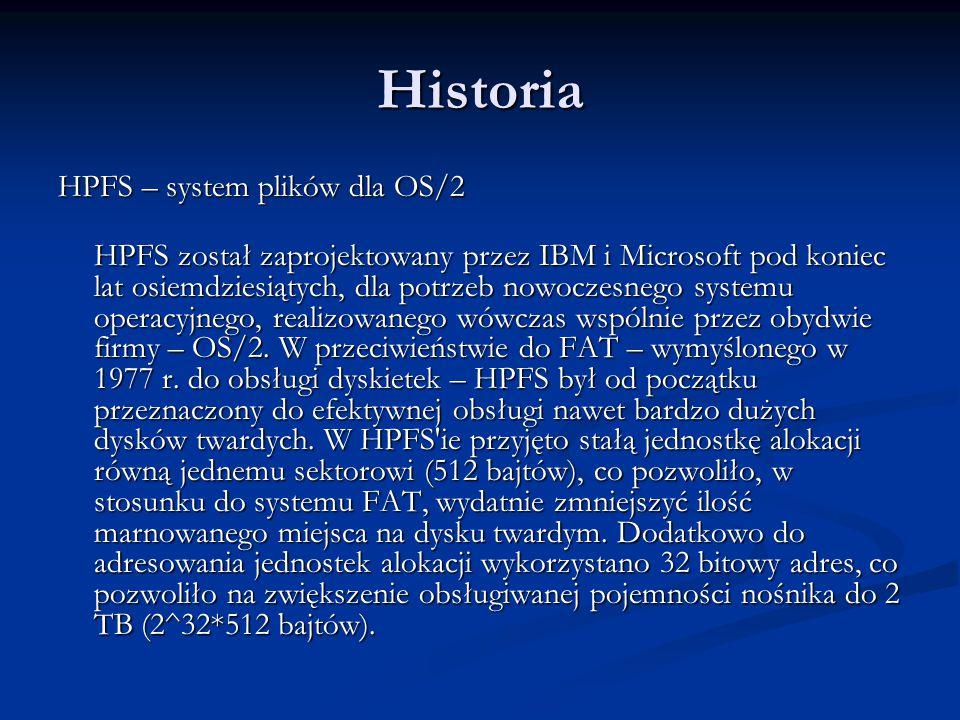 Historia HPFS – system plików dla OS/2