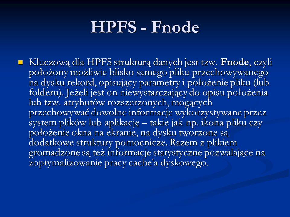 HPFS - Fnode