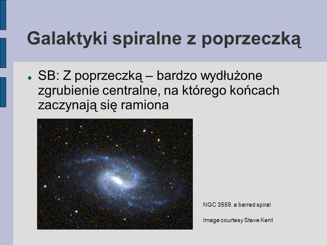 Galaktyki spiralne z poprzeczką