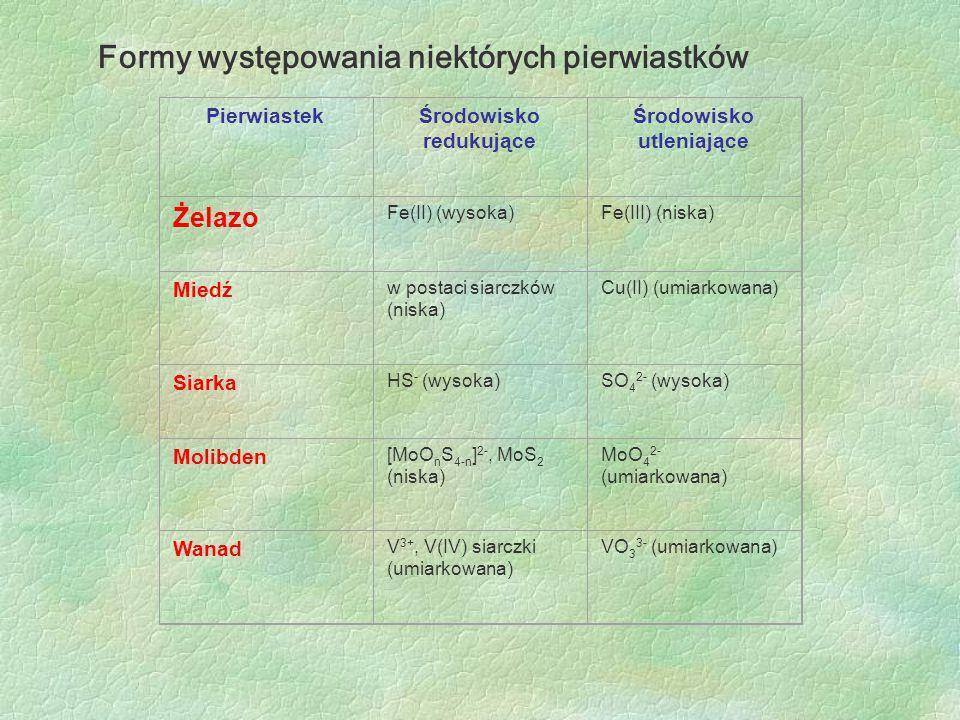 Formy występowania niektórych pierwiastków