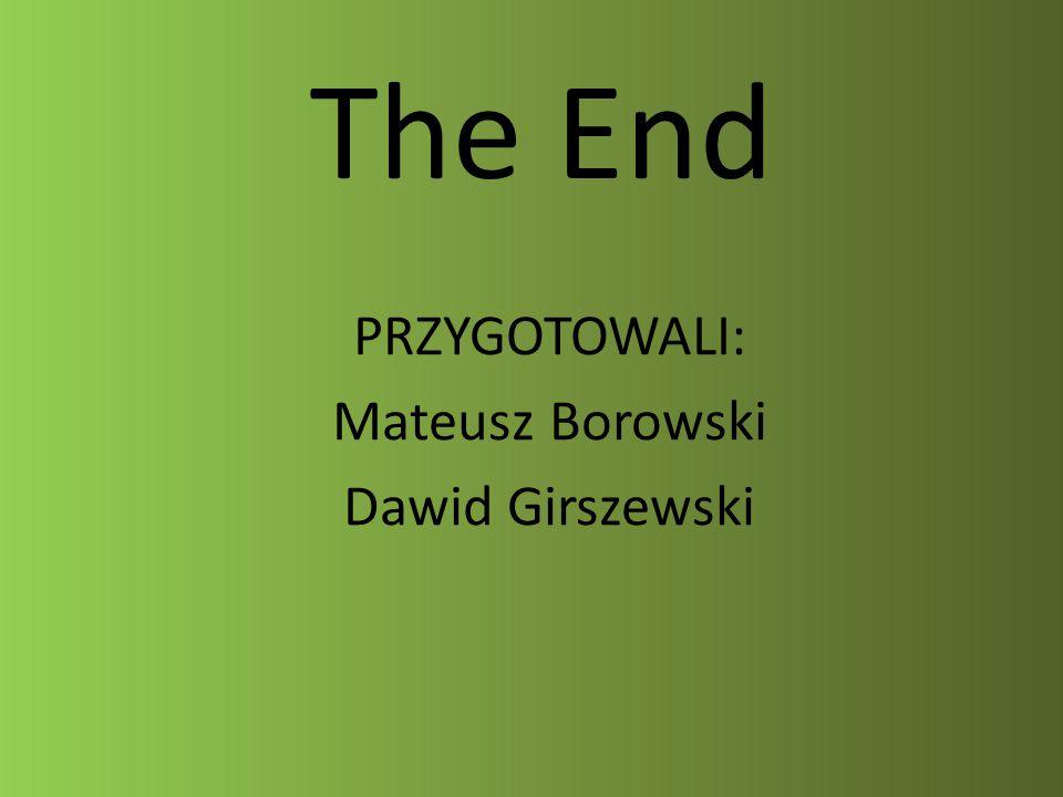 PRZYGOTOWALI: Mateusz Borowski Dawid Girszewski
