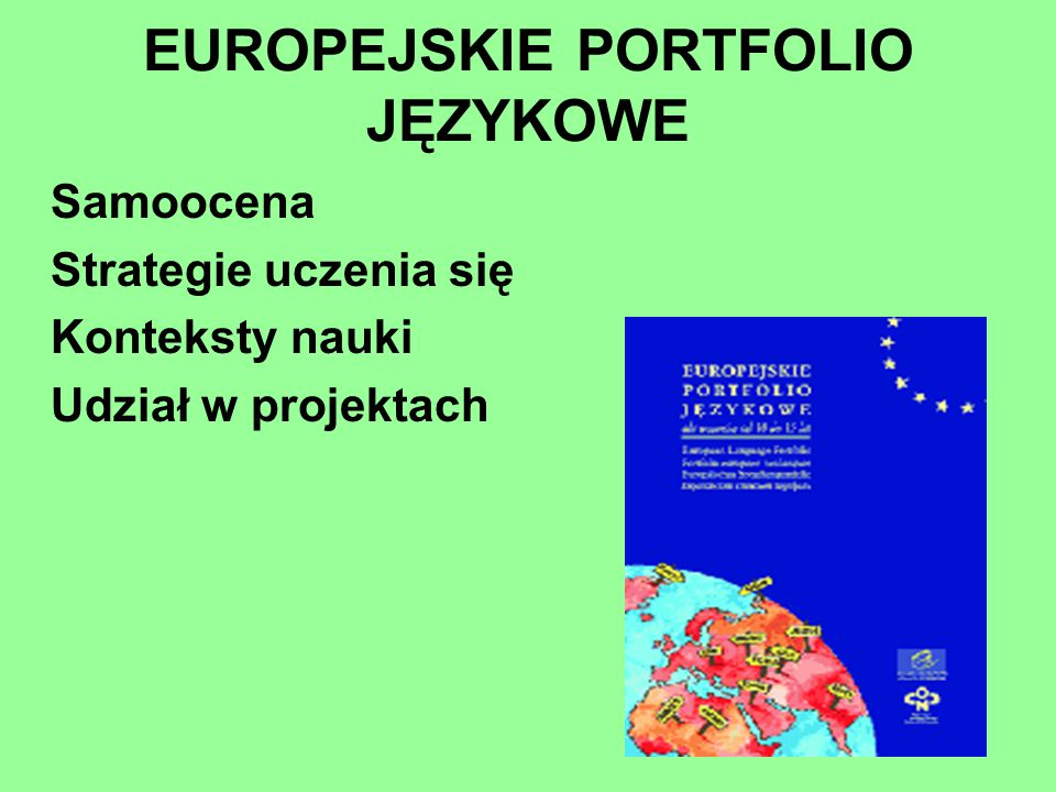 EUROPEJSKIE PORTFOLIO JĘZYKOWE