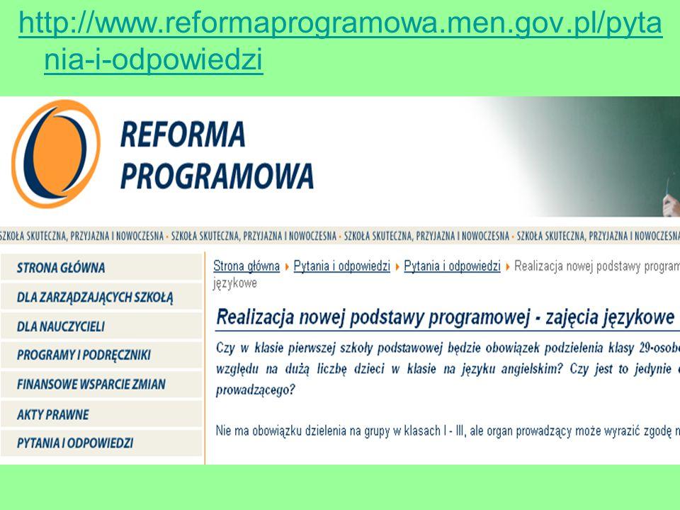 http://www.reformaprogramowa.men.gov.pl/pytania-i-odpowiedzi