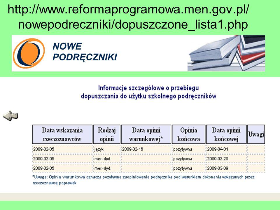 http://www. reformaprogramowa. men. gov