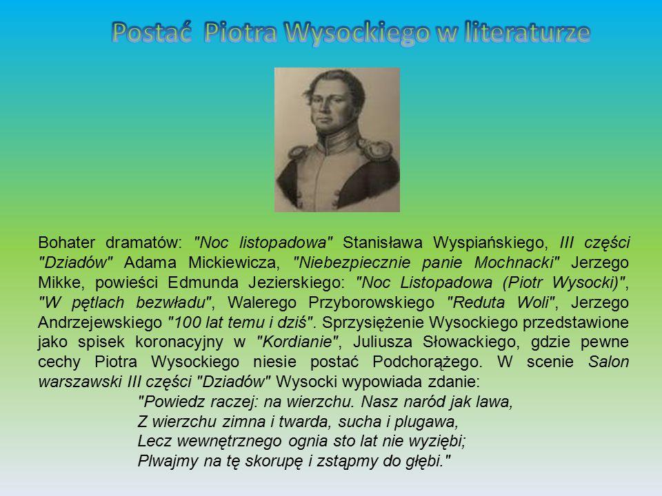 Postać Piotra Wysockiego w literaturze