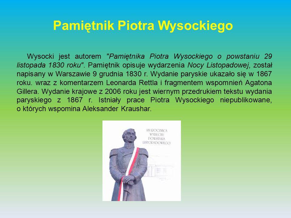 Pamiętnik Piotra Wysockiego