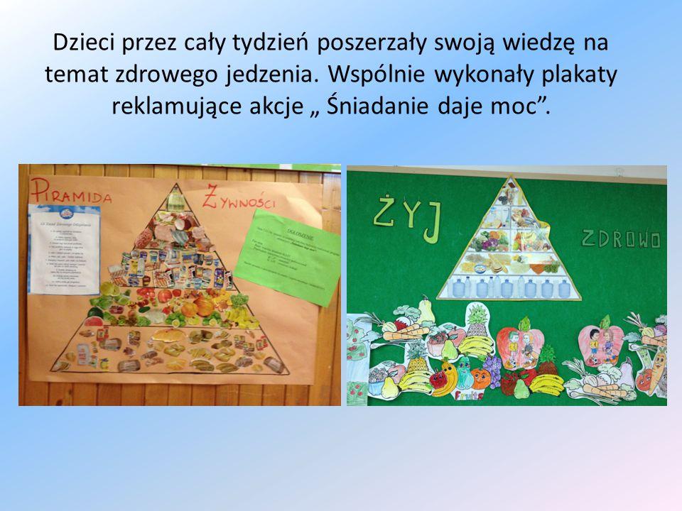 Dzieci przez cały tydzień poszerzały swoją wiedzę na temat zdrowego jedzenia.