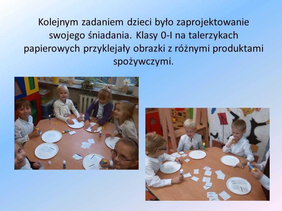 Kolejnym zadaniem dzieci było zaprojektowanie swojego śniadania