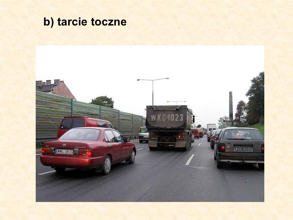 b) tarcie toczne