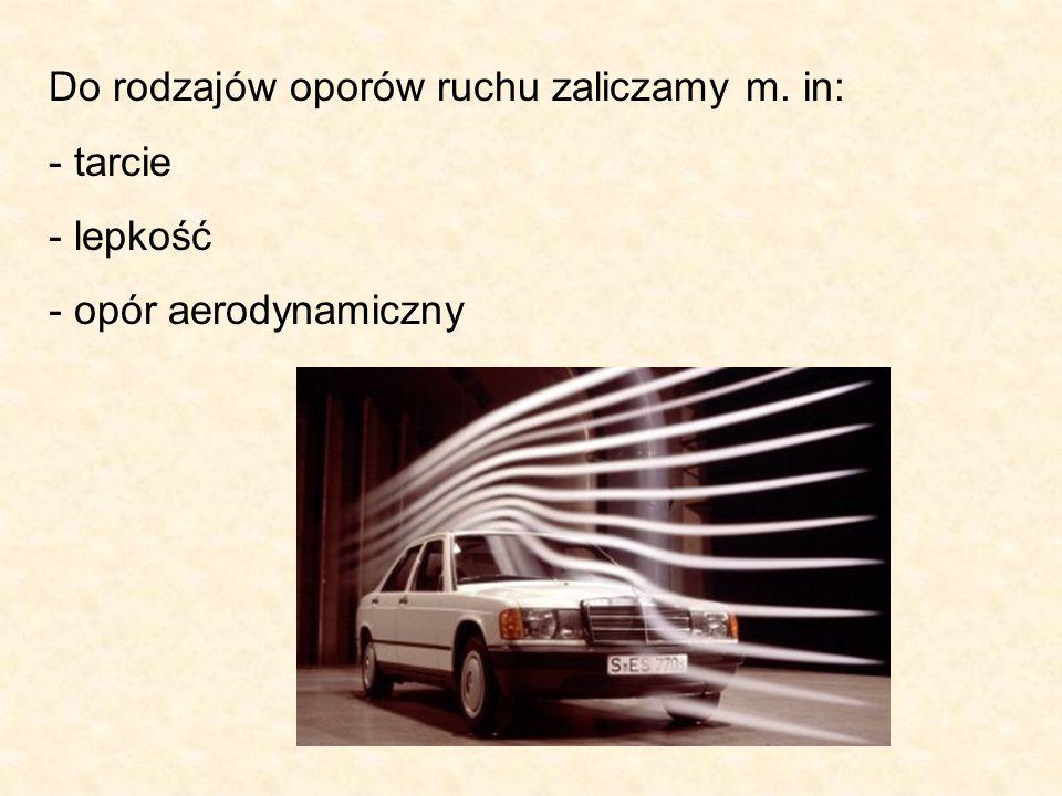 Do rodzajów oporów ruchu zaliczamy m. in: